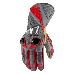 Red Icon Mens Hypersport Pro Long Leather Gloves 2014
