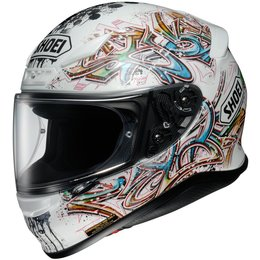 White Shoei Rf-1200 Rf1200 Graffiti Full Face Helmet