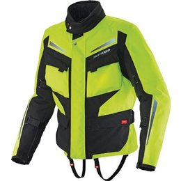 Yellow, Black Spidi Sport Voyager H2 Jacket Yellow Black