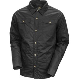 RSD Mens Brisco Water Resistant Cotton And Suede Button Up Shirt Black