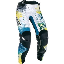 Fly Racing Youth Girls Kinetic Race Pants Blue