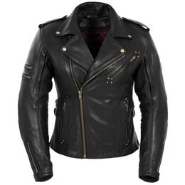 Black Pokerun Womens Marilyn Leather Jacket