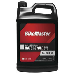 Bikemaster High Performance Motorcycle Oil 20W50 1 Gallon 532314 Unpainted