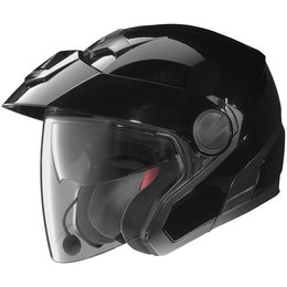 Gloss Black Nolan N40 N-40 Open Face Helmet With Mcs