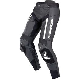 Black Spidi Sport Rr Pro Leather Pants White Us 34