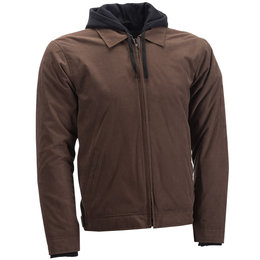 Highway 21 Mens Gearhead Armored Textile Jacket Brown