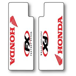 Red Factory Effex Upper Fork Shield Graphics For Honda