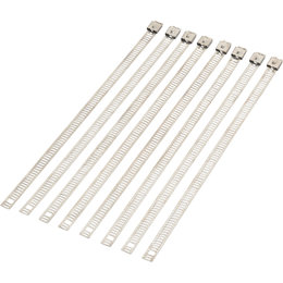 Moose Racing 8 Inch Cable Tie 8-Pack Silver 2120-0642 Silver