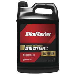 Bikemaster High Performance Semi-Synthetic Motorcycle Oil 10W40 1 Gallon 532317 Unpainted