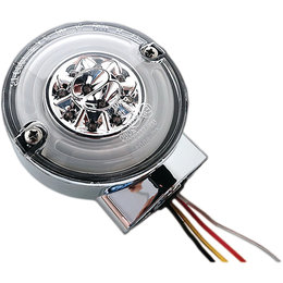 HardDrive HALO LED Rear Turn/Stop Signal W/ Smoke Lens For Harley Chrome 164500 Unpainted