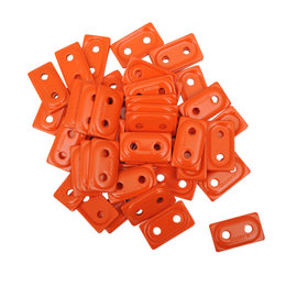 Woody's Double Digger Orange Snowmobile Support Plates 48-Pack ADD2-3805-B Orange