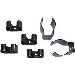 Snobunje Snowmobile Spring Steel Vinyl Coated Gripper Clips 6 Pack Black 1026 Black
