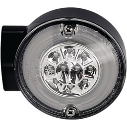 HardDrive HALO LED Rear Turn/Stop Signal W/ Clear Lens For Harley Black 164503 Black