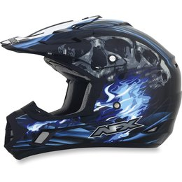 Black, Blue Afx Mens Fx-17 Fx17 Inferno Helmet Black Blue