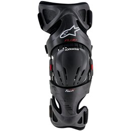 Alpinestars Adult Fluid Tech Carbon Ergo Fit Right Knee Brace Each Red
