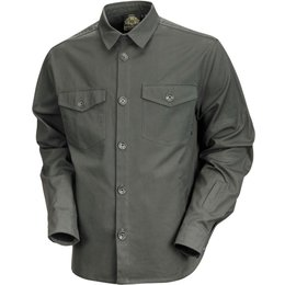 RSD Mens Newcombe Cotton Canvass Button Up Overshirt Green