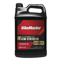 Bikemaster High Performance Semi-Synthetic Motorcycle Oil 20W50 1 Gallon 532320 Unpainted