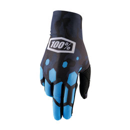 100% Mens Celium Legacy MX Motocross Offroad Riding Gloves Blue