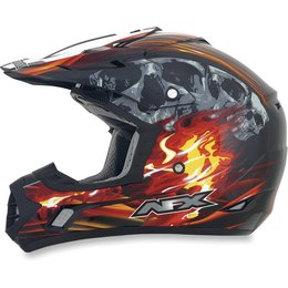 Black, Red Afx Mens Fx-17 Fx17 Inferno Helmet Black Red