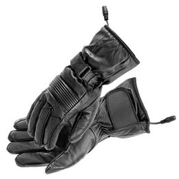 Black Firstgear Heated Rider Motorcycle Gloves