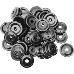 Woody's Round Digger Snowmobile Support Plate 48-Pack Black AWA-3810 Black