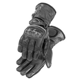 Black Firstgear Heated Carbon Motorcycle Gloves