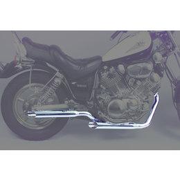MAC 2:2 Staggered Dual Exhaust W/ Slash-Cut Mflrs Chr For Yam Virago 700 1100