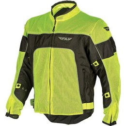 Fluorescent Yellow Fly Racing Coolpro Ii Mesh Jacket