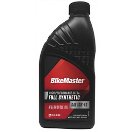 Bikemaster High Performance Full Synthetic Motorcycle Oil 10W40 1 Quart 532322 Unpainted