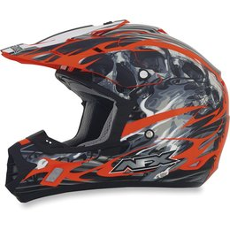 Orange Afx Mens Fx-17 Fx17 Inferno Helmet
