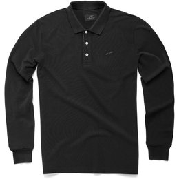 Alpinestars Mens Cafe Long Sleeve Polo Shirt Black