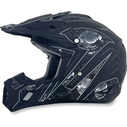 Flat Black Afx Mens Fx-17 Fx17 Gear Helmet