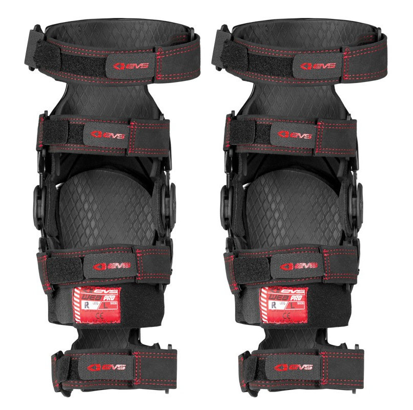 211c72738f ... Red Evs Web Pro Knee Braces 2014 Pair Black Red