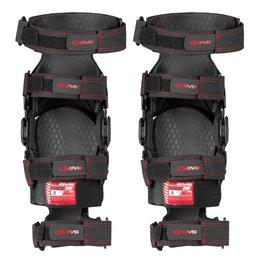Black, Red Evs Web Pro Knee Braces 2014 Pair Black Red