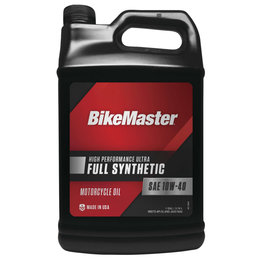 Bikemaster High Performance Full Synthetic Motorcycle Oil 10W40 1 Gallon 532323 Unpainted