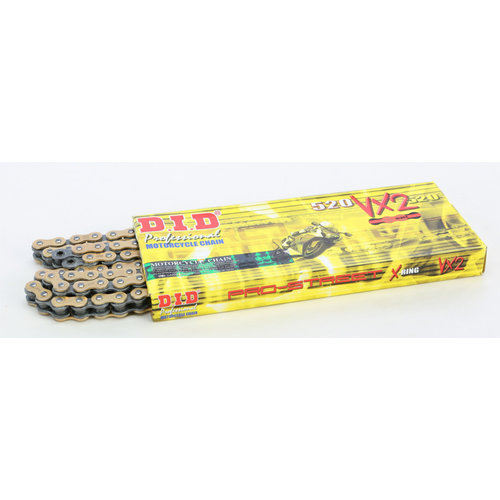 DID 530 x 108 Links VX Pro-Street Series Xring Sealed Gold Drive Chain