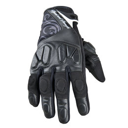 Black Speed & Strength Womens Cat Out'a Hell Leather Textile Gloves