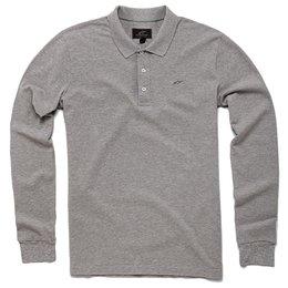 Alpinestars Mens Cafe Long Sleeve Polo Shirt Grey