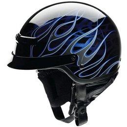 Black, Blue Z1r Nomad Hellfire Half Helmet Black Blue