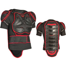 Black, Red Fly Racing Barracade Sleeve Body Armor Protection Jacket Black Red