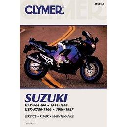 Clymer Repair Manual For Suzuki GSX600F GSX-R750 1100 86-96