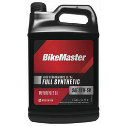 Bikemaster High Performance Full Synthetic Motorcycle Oil 20W50 1 Gallon 532326 Unpainted