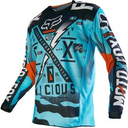 Fox Racing Youth Boys 180 Vicious Jersey Blue