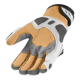White Icon Mens Hypersport Pro Short Leather Gloves 2014