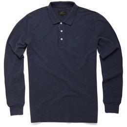 Alpinestars Mens Cafe Long Sleeve Polo Shirt Blue