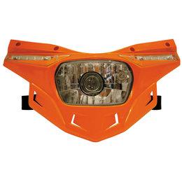 UFO Plastic Stealth Headlight Universal Orange PF01715-127 Orange