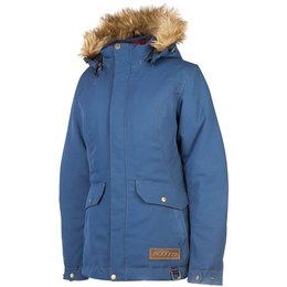 Klim Womens Jackson Gore-Tex Insulated Removable Hood Textile Snowmobile Parka Blue