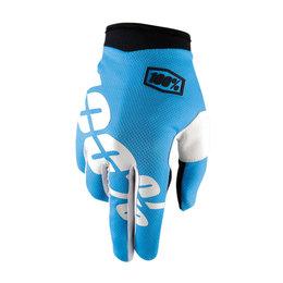 100% Mens I-Track MX Motocross Offroad Riding Gloves Blue