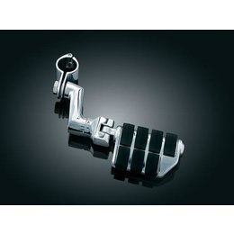 Chrome/black Kuryakyn Offset Dually Highway Pegs With 1-1 4 In Clamps