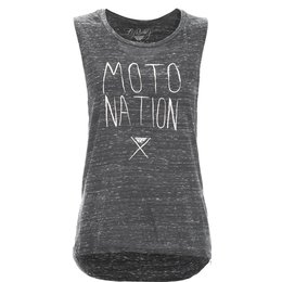 Fly Racing Womens Moto Nation Sleeveless Muscle T-Shirt Black